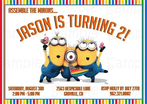 Despicable Me Party Invitations Theruntime Com Despicable Me Invitations Templates