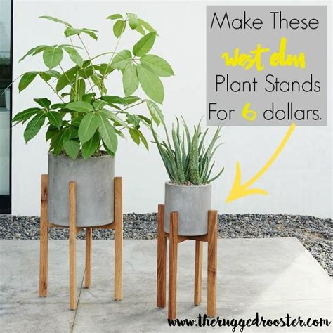 How To Make A Plant Holder - west elm inspired diy plant stands hometalk