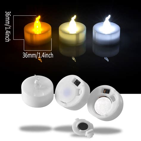 battery tea light candles 24 pcs led tealight battery operated flameless flickering