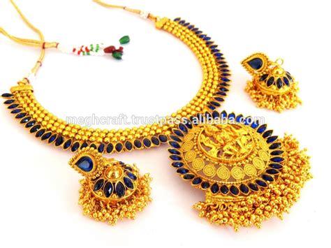Set Bridal India Kalung India Kalung Pesta Set Aamh031 indian etnis pengantin kalung set kuil india selatan kalung set satu gram perhiasan emas disepuh