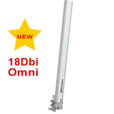 18dbi 2 4ghz omnidirectional antenna horizontal polarisation