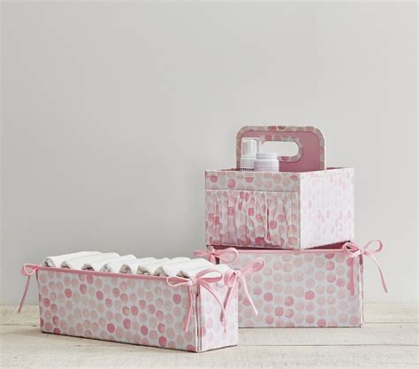 Pottery Barn Changing Table Pink Modern Dot Changing Table Storage Pottery Barn