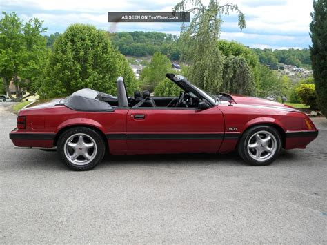 1986 Ford Mustang by 1986 Ford Mustang Convertable