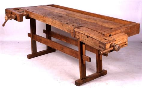 old wooden work bench antique wooden carpenter s workbench