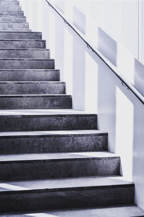 stairs grayscale photography  stock photo