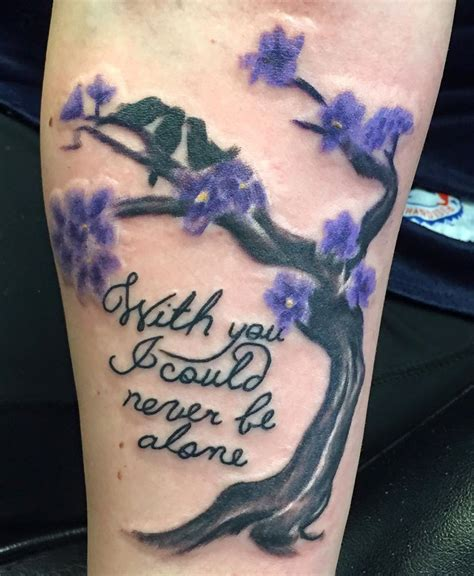 alone tattoo with you i could never be alone my pearl jam for my