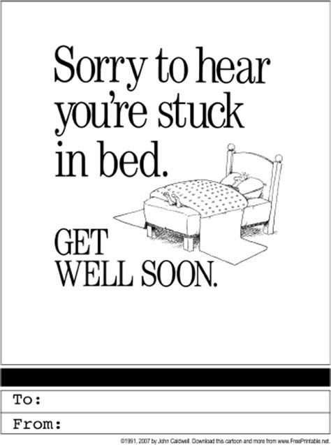 Printable Get Well Soon Card Templates by Get Well Soon Printable Greeting Card