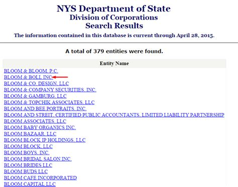 New York Address Lookup New York Business Entity And Corporation Search Ny Of State Sos