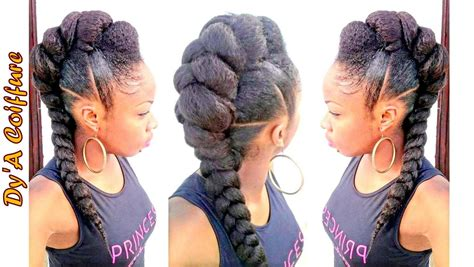 Mohawk Hairstyle For Black Tutorial by Tutorial Mohawk Faux Hawk Style With A Jumbo Braid