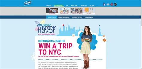 Sweepstakes To Meet Celebrities - dixie s savor summer flavor sweepstakes meet celebrity chef claire robinson in nyc
