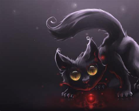 wallpaper cute evil gato negro 3d 1280x1024 fondos de pantalla y wallpapers
