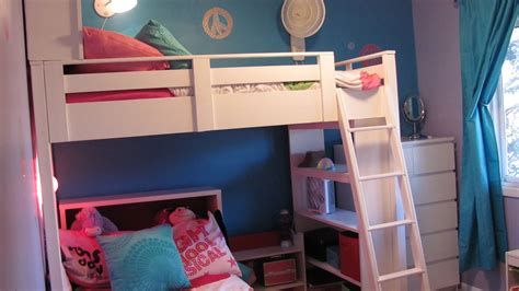 bunk bed with bookcase clip on bookshelf for bunk bed simple home decoration