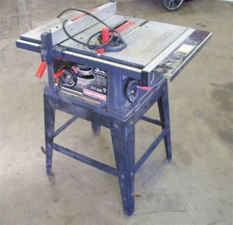 craftsman 137 table saw lot 411 craftsman table saw model 137 248100