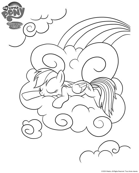 My Litte Pony Rainbow Dash And Friends Colouring Page Mlp Coloring Pages Rainbow Dash Equestria