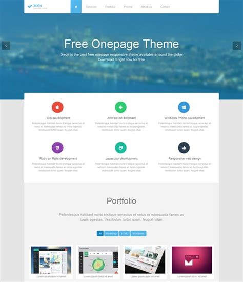 70 Best One Page Website Templates Free Premium Freshdesignweb One Pager Template