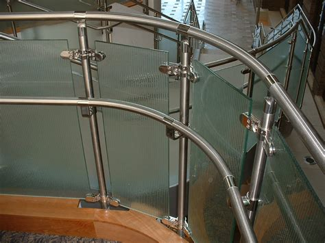 Stainless Steel Handrail With Glass ideas beautiful glass stair railing design exles to inspire you glass deck railings