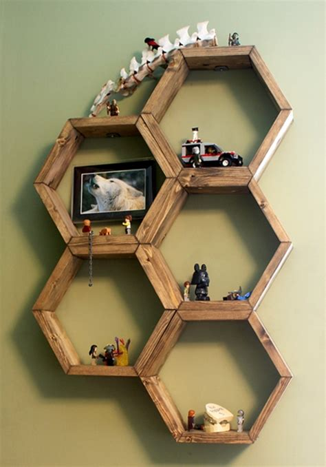 diy honeycomb shelves diy honeycomb hexagon shelves
