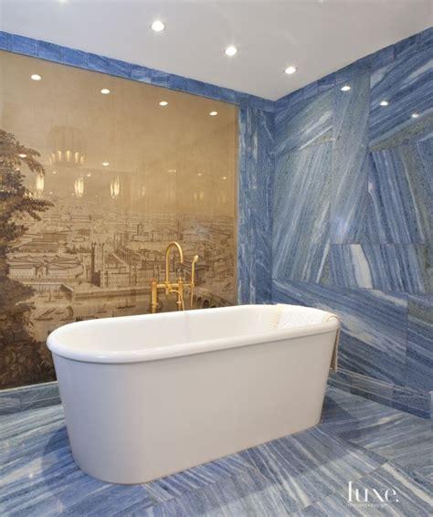 blue marble bathroom modern blue marble master bath luxe bath powder rooms pinterest