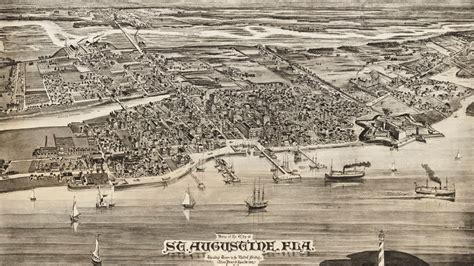 history st st augustine florida history and cartography 1885