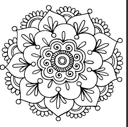 coloring pages of easy designs the 25 best simple mandala ideas on pinterest simple