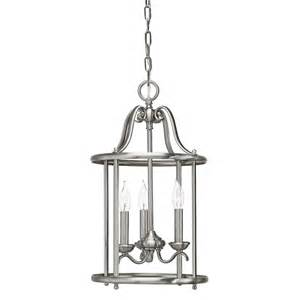 Wrought Iron Pendant Light Shop Kichler Menlo Park 12 01 In Brushed Nickel Wrought Iron Single Cage Pendant At Lowes