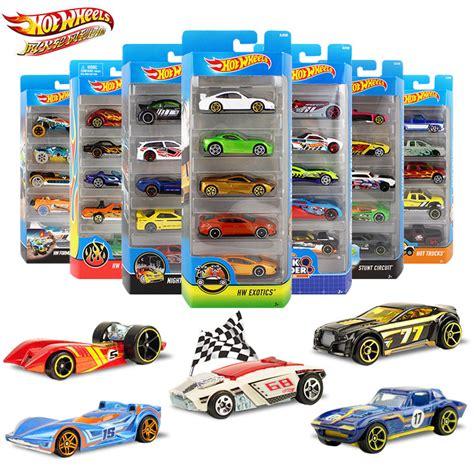 Hotwheels Original 14 5pcs pack original wheels 1 64 metal mini model car toys for children diecast