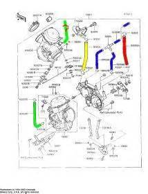 how do the fuel lines on the 1997 kawasaki 750 volcan go