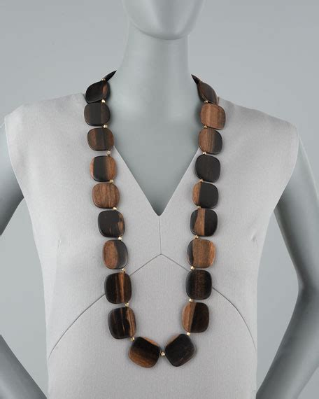 nest jewelry wooden bead necklace