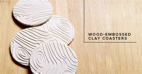 Dollarama Home Decor by Wood Embossed Clay Coasters At Live Craft Love Minted