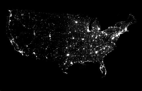 us map at from space the united states at