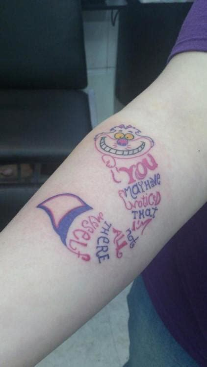 cheshire cat smile tattoo cheshire cat on