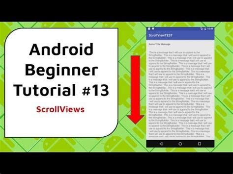 android tutorial for beginners android beginner tutorial 13 scrollviews scrolling
