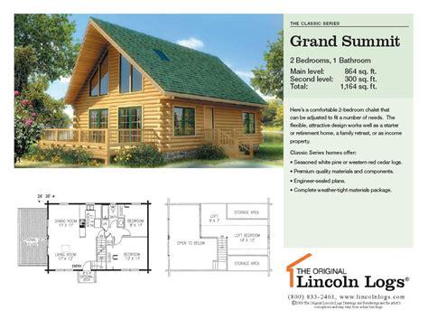 lincoln log homes floor plans log home floorplan grand summit the original lincoln logs