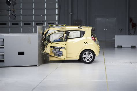car crash test small cars fail new iihs small overlap frontal crash test