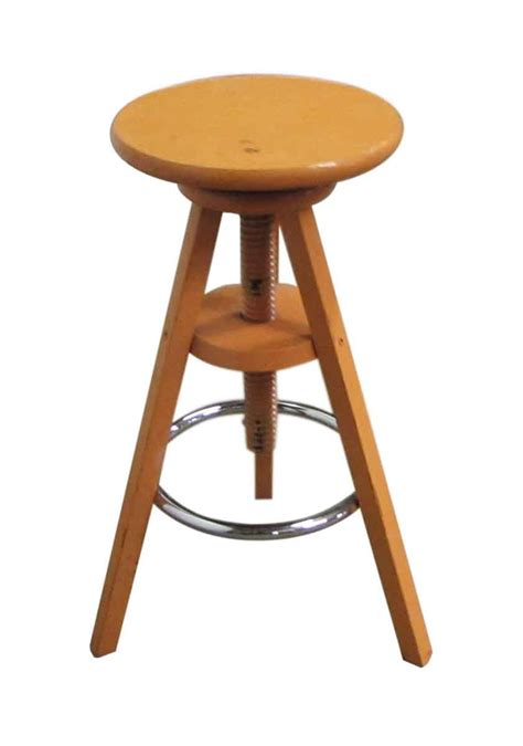 Adjustable Wooden Stool by Adjustable Wooden Stool Olde Things