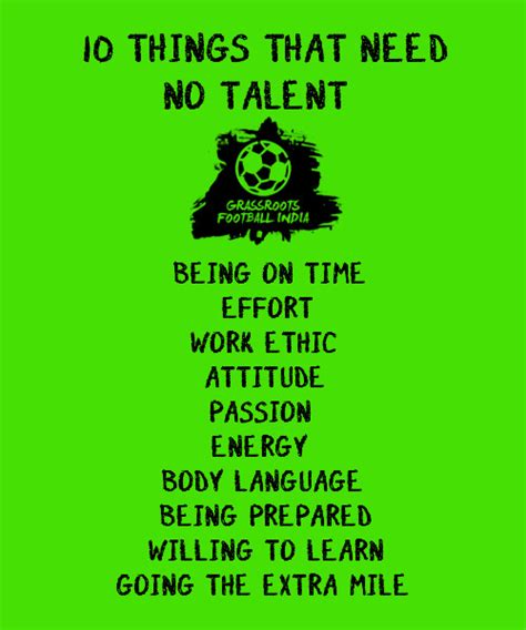 Ten Things That Are For You by 10 Things That Need No Talent Grassroots Football India