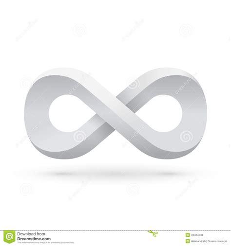 white infinity symbol white infinity symbol stock vector illustration of