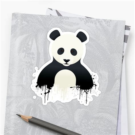panda graffiti stickers  mark walker redbubble