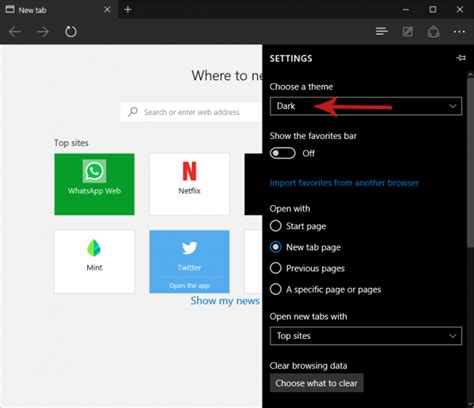 themes for microsoft edge browser how to enable the dark theme in microsoft edge