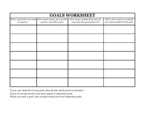 business goal template printables smart goal worksheet template agariohi