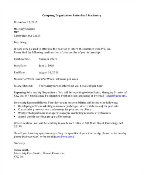 Offer Letter Sle For Marketing Executive 25 Offer Letter Exle Free Premium Templates