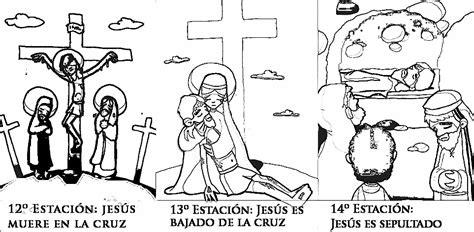 imagenes del via crucis en blanco y negro dibujos colorear v 237 a crucis para ni 241 os preg 250 ntale al