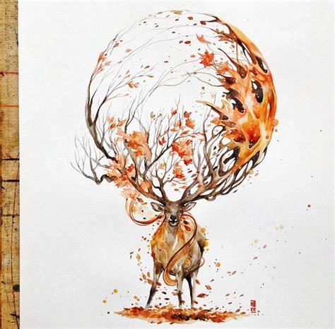 Home Design Ideas Outdoor deer painting by luqmanreza full image