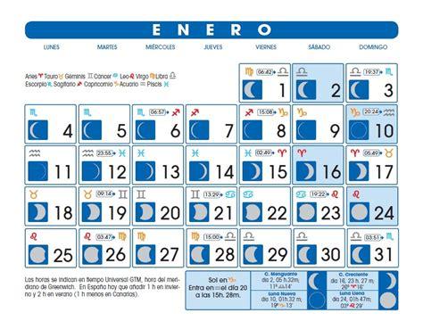 Calendario Enero 2007 Calendario Lunar Enero De 2016