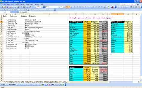 simple excel spreadsheet simple personal budget template microsoft