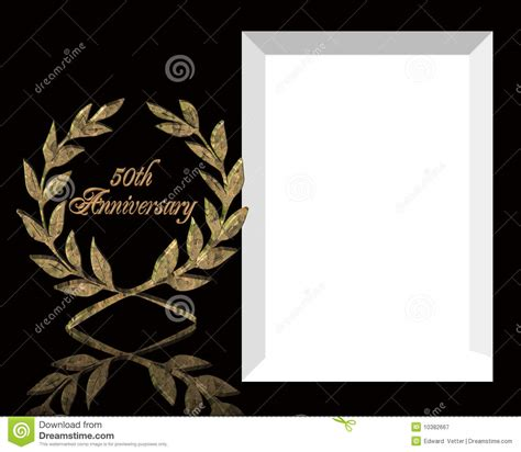 and black anniversary card templates 50th wedding anniversary invitation stock illustration