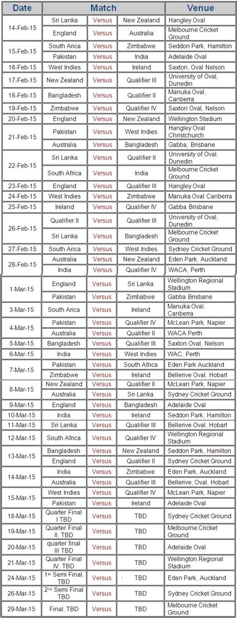 printable schedule world cup 2015 world cup 2015 schedule new calendar template site