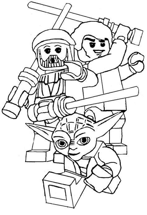 Free Luke Skywalker Lego Coloring Pages Lego Coloring Sheets