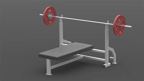 chest press bench chest press bench press barbell gym 3d model sldprt sldasm slddrw cgtrader com