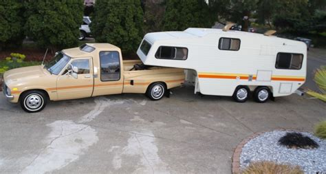 vintage chic weekender  toyota dually camper